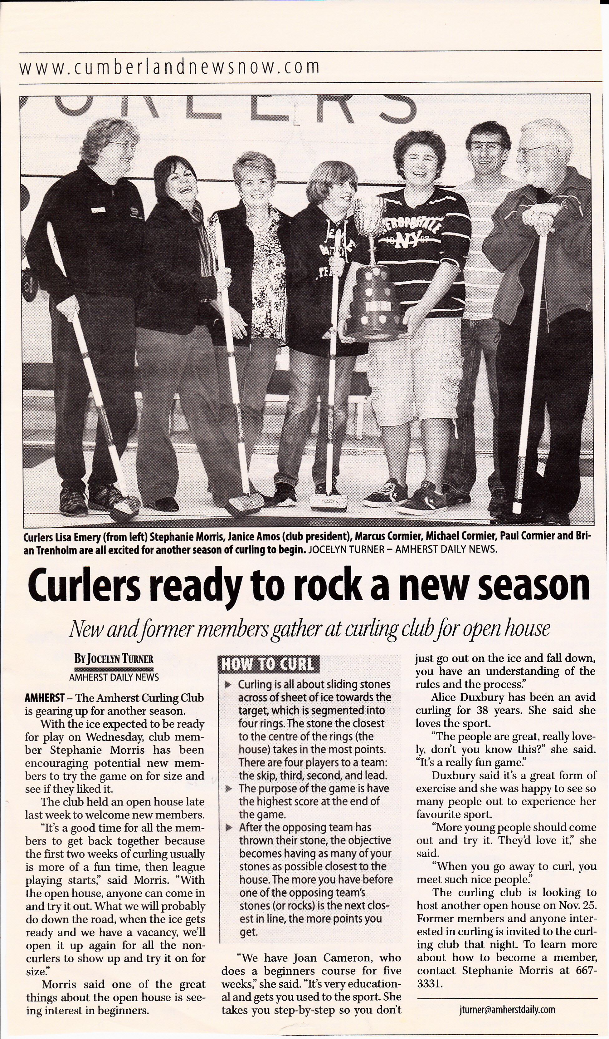 Curlers Ready to Rock Season 2012-13