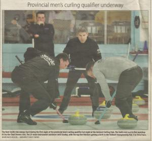Provincial Men's curling qualifier underway