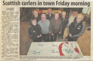 Scottish Curlers in Town Friday Morning