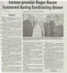 Roger Bacon Honoured 2014