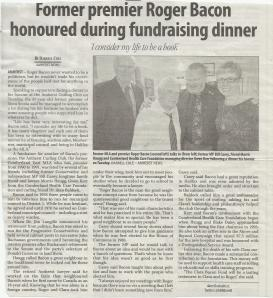 Roger Bacon Honoured 2014